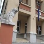 Az iskolát őrző szobor